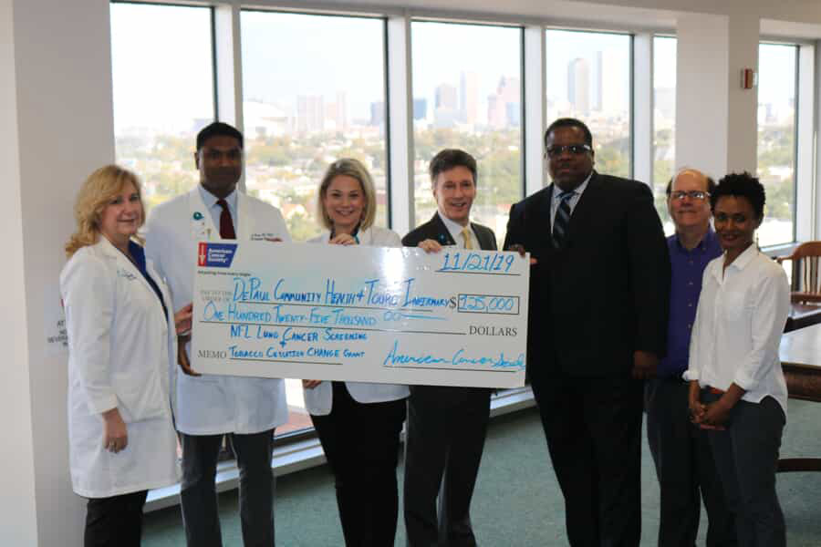 American Cancer Society, National Football League, and the New Orleans Saints Award $125,000 Grant to Daughters of Charity Health Centers and Touro Infirmary to Help Reduce Lung Cancer Deaths